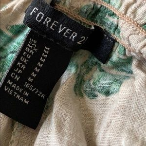 Forever 21 Shorts - Palm tree linen shorts